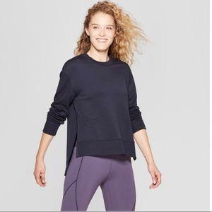 JoyLab Navy Side Slit Super Soft Sweatshirt Medium